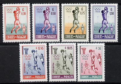 Paraguay 1960 Rome Olympic Games set of 7 unmounted mint (SG 863-69)*