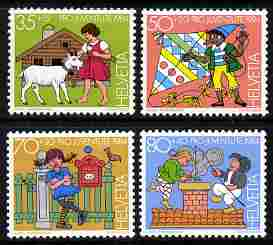 Switzerland 1984 Pro Juventute Characters from Children's books set of 4 unmounted mint SG J287-90