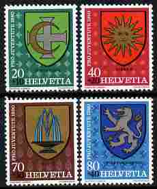 Switzerland 1980 Pro Juventute Arms of the Communes set of 4 unmounted mint SG J270-73