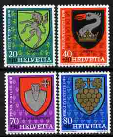 Switzerland 1979 Pro Juventute Arms of the Communes set of 4 unmounted mint SG J266-69
