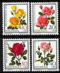 Switzerland 1972 Pro Juventute Roses set of 4 unmounted mint SG J237-40