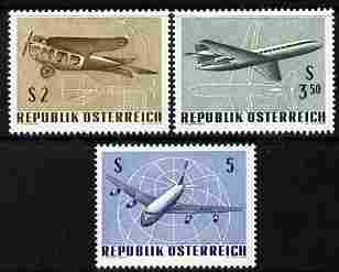 Austria 1968 IFA Wien Airmail Stamp Exhibition perf set of 3 unmounted mint SG 1521-23