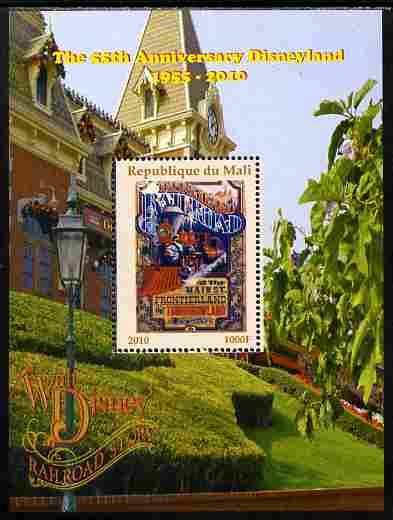 Mali 2010 The 55th Anniversary of Disneyland - Walt Disney's Railroad Story #16 perf s/sheet unmounted mint. Note this item is privately produced and is offered purely on its thematic appeal