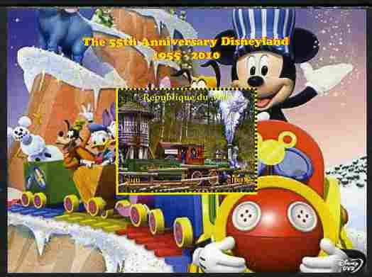 Mali 2010 The 55th Anniversary of Disneyland - Mickey Mouse Railway #02 perf s/sheet unmounted mint. Note this item is privately produced and is offered purely on its thematic appeal