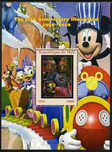 Mali 2010 The 55th Anniversary of Disneyland - Mickey Mouse Railway #03 perf s/sheet unmounted mint. Note this item is privately produced and is offered purely on its thematic appeal