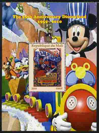 Mali 2010 The 55th Anniversary of Disneyland - Mickey Mouse Railway #04 perf s/sheet unmounted mint. Note this item is privately produced and is offered purely on its thematic appeal