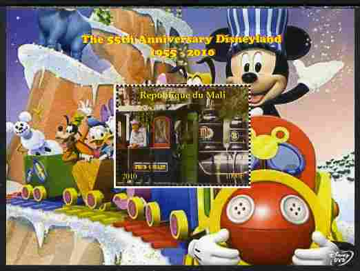 Mali 2010 The 55th Anniversary of Disneyland - Mickey Mouse Railway #06 perf s/sheet unmounted mint. Note this item is privately produced and is offered purely on its thematic appeal