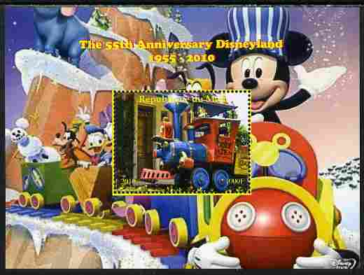 Mali 2010 The 55th Anniversary of Disneyland - Mickey Mouse Railway #07 perf s/sheet unmounted mint. Note this item is privately produced and is offered purely on its thematic appeal
