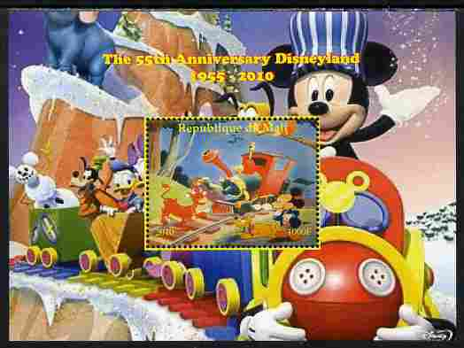 Mali 2010 The 55th Anniversary of Disneyland - Mickey Mouse Railway #08 perf s/sheet unmounted mint. Note this item is privately produced and is offered purely on its thematic appeal