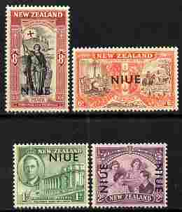 Niue 1946 KG6 Peace set of 4 unmounted mint, SG 98-101