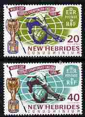 New Hebrides - English 1966 Football World Cup Championships set of 2 unmounted mint SG 118-19