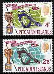 Pitcairn Islands 1966 Football World Cup Championships set of 2 unmounted mint SG 57-58