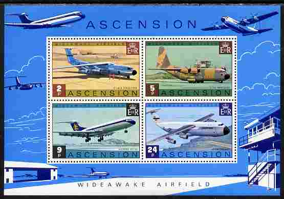 Ascension 1975 Wideawake Airfield perf m/sheet unmounted mint, SG MS 191