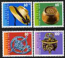 Switzerland 1995 Pro Patria - Folk Art perf set of 4 unmounted mint SG 1301-04
