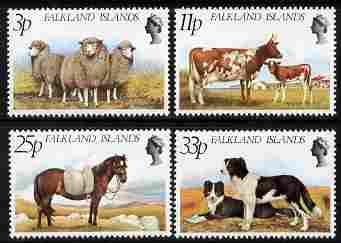 Falkland Islands 1981 Farm Animals perf set of 4 unmounted mint SG 392-5