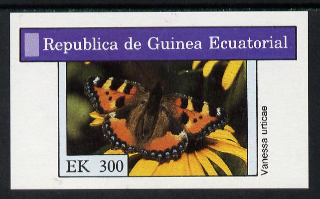 Equatorial Guinea 1976 Butterflies 300ek imperf m/sheet unmounted mint