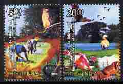 India 2010 Biodiversity perf set of 2 unmounted mint