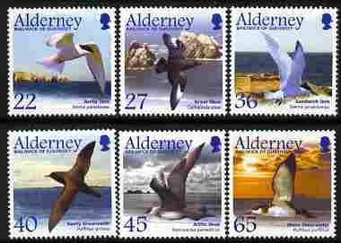 Guernsey - Alderney 2003 Migrating Birds (2nd series) Seabirds perf set of 6 unmounted mint SG A210-15