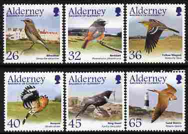 Guernsey - Alderney 2004 Migrating Birds (3rd series) Passerines perf set of 6 unmounted mint SG A235-40