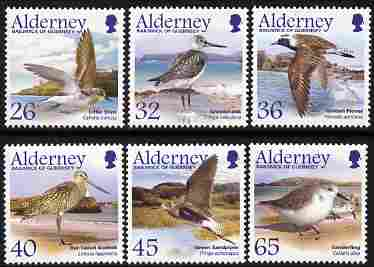 Guernsey - Alderney 2005 Migrating Birds (4th series) Waders perf set of 6 unmounted mint SG A259-64