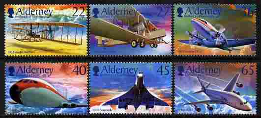 Guernsey - Alderney 2003 Centenary of Powered Flight perf set of 6 unmounted mint SG A204-9