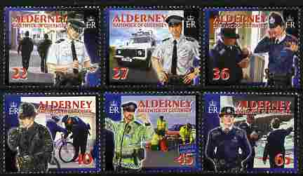 Guernsey - Alderney 2003 Community Services (3rd series) Police perf set of 6 unmounted mint SG A217-22