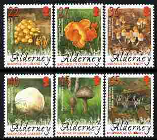 Guernsey - Alderney 2004 Fungi perf set of 6 unmounted mint SG A223-28