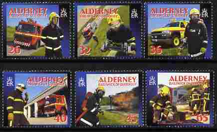 Guernsey - Alderney 2004 Community Services (4th series) Fire Service perf set of 6 unmounted mint SG A242-47