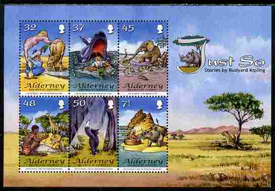 Guernsey - Alderney 2007 Rudyard Kipling's Just So Stories perf m/sheet unmounted mint SG MS A328