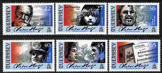 Guernsey 2002 Victor Hugo's Les Miserables perf set of 6 values unmounted mint, SG 935-40