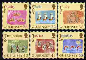 Guernsey 2004 800th Anniversary of Allegiance to England perf set of 6 unmounted mint, SG 1038-43