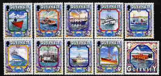 Guernsey 1998-2005 Maritime Heritage perf set of 10 values 1p to 10p unmounted mint, SG 785-94