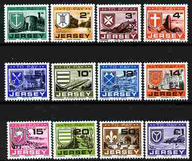 Jersey 1978 Postage Due set of 12 complete unmounted mint, SG D21-32