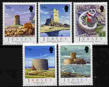 Jersey 2005 Coastal Towers perf set of 5 unmounted mint, SG 1235-9