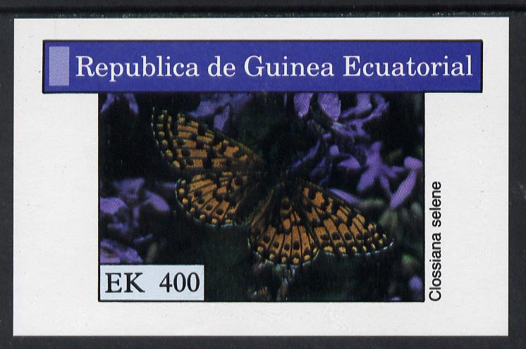 Equatorial Guinea 1976 Butterflies 400ek imperf m/sheet unmounted mint