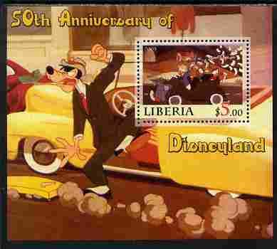 Liberia 2005 50th Anniversary of Disneyland #23 (Donald) perf s/sheet unmounted mint