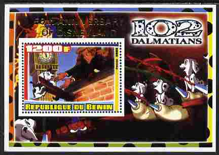Benin 2005 Disney's 102 Dalmations #2 perf m/sheet overprinted 50th Anniversary of Disneyland in gold unmounted mint. Note this item is privately produced and is offered purely on its thematic appeal