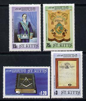 St Kitts 1985 Masonic Lodge set of 4 unmounted mint, SG 177-80*