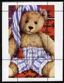 Batum 1996 Teddy Bears perf souvenir sheet (1200 value) unmounted mint. Note this item is privately produced and is offered purely on its thematic appeal, it has no posta...