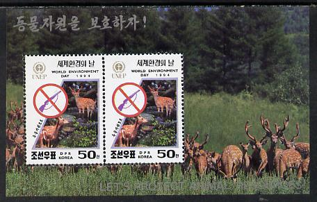 North Korea 1994 Environment Day (Animal Protection - Shooting Deer) m/sheet unmounted mint