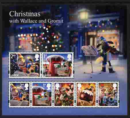 Great Britain 2010 Christmas with Wallace & Gromit perf m/sheet unmounted mint