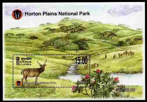 Sri Lanka 2010 Horton Plains National Park perf s/sheet #2 Sambur 15r unmounted mint