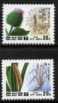 North Korea 1994 Medicinal Plants set of 2 unmounted mint, SG N3429-30*