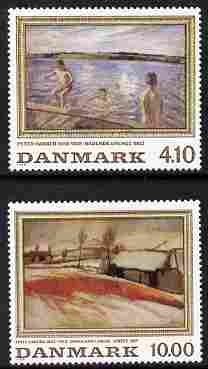 Denmark 1988 Paintings perf set of 2 unmounted mint SG 876-77