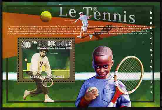 Guinea - Conakry 2010 Lawn Tennis perf m/sheet unmounted mint