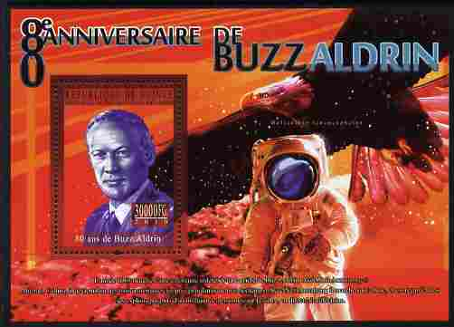 Guinea - Conakry 2010 80th Birthday of Buzz Aldrin #2 perf m/sheet unmounted mint
