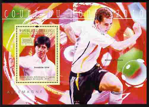 Guinea - Conakry 2010 Football World Cup - Germany perf m/sheet unmounted mint