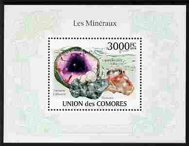 Comoro Islands 2010 Minerals perf m/sheet unmounted mint
