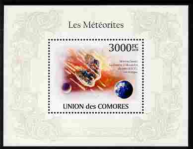 Comoro Islands 2010 Meteorites perf m/sheet unmounted mint