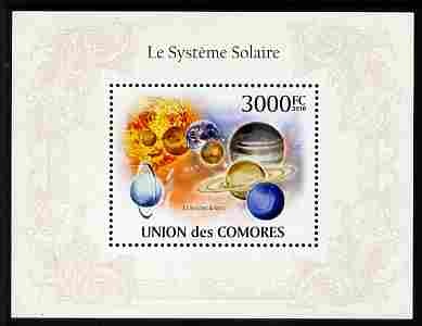 Comoro Islands 2010 The Solar System perf m/sheet unmounted mint